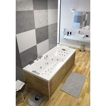 Baignoire avec système de massage professionnel KINEPLUS KIETUDE rectangulaire 180x80cm tête à droite réf. BKP4180DBKPK8