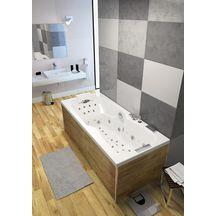 Baignoire avec système de massage professionnel KINEPLUS KIETUDE rectangulaire 170x75 cm tête à gauche réf. BKP4775GBKPK8