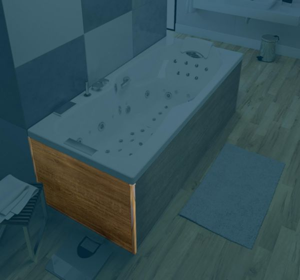 Tablier aspect bois clair retour 80 pour toutes lignes de baignoires sauf STAR Réf. TAKBO080XCL