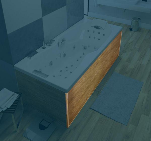 Tablier aspect bois clair 180 pour toutes lignes de baignoires sauf STAR Réf. TAKBO180XCL