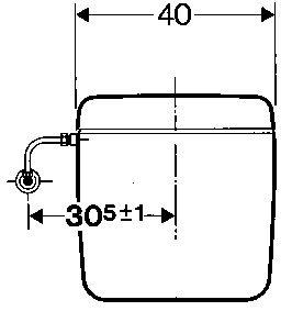 Réservoir attenant simple touche blanc alimentation par le bas gauche Réf. 128.013.11.1