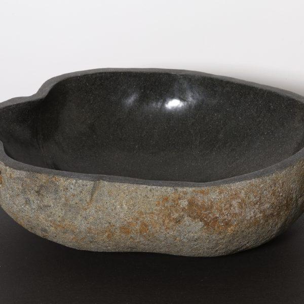 vasque a poser en pierre Vasque à poser en pierre naturelle Ivela - Ø 40-60 cm - H. ...