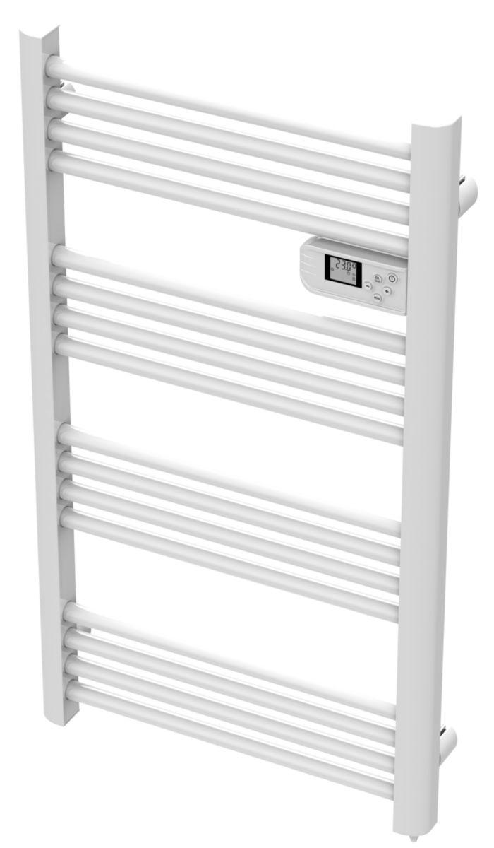 Radiateur sèche-serviette électrique tubes ronds Jupiter 500 W blanc réf. DD1L-500