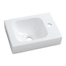 lave mains lovely 38 cm sans trop plein cuve gauche perc 1 trou droite blanc r f. Black Bedroom Furniture Sets. Home Design Ideas