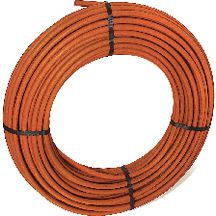 Tube nu en couronne rouge PER BetaPEX-RETUBE diam 16 ep : 1,5 mm Lg : 120 m Réf B612001042