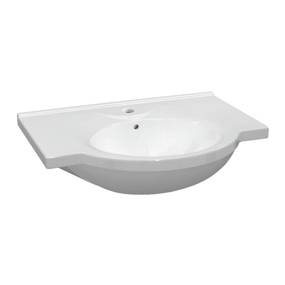 Allia Plan De Toilette Céramique Autoportant Prima De 65 X 50 37