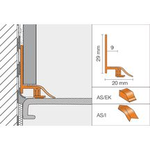 Profil de raccordement sanitaire schl ter dilex as blanc - Difference entre carrelage et faience ...