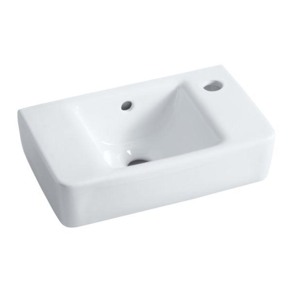 Lave-mains PRIMA STYLE 40x25cm, 1 trou percé à droite