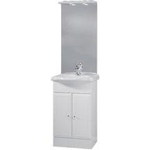 meuble sous vasque tolede 2 blanc 50 cm 2 portes pour plan cramique - Meuble Salle De Bain Brossette