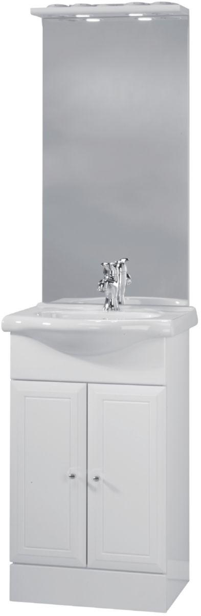 meuble sous vasque tolede 2 blanc 50 cm 2 portes pour plan c ramique alterna. Black Bedroom Furniture Sets. Home Design Ideas