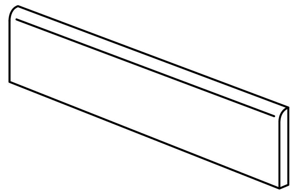 Plinthe grès cérame rectifié Bricklane - light naturel - 7x60 cm