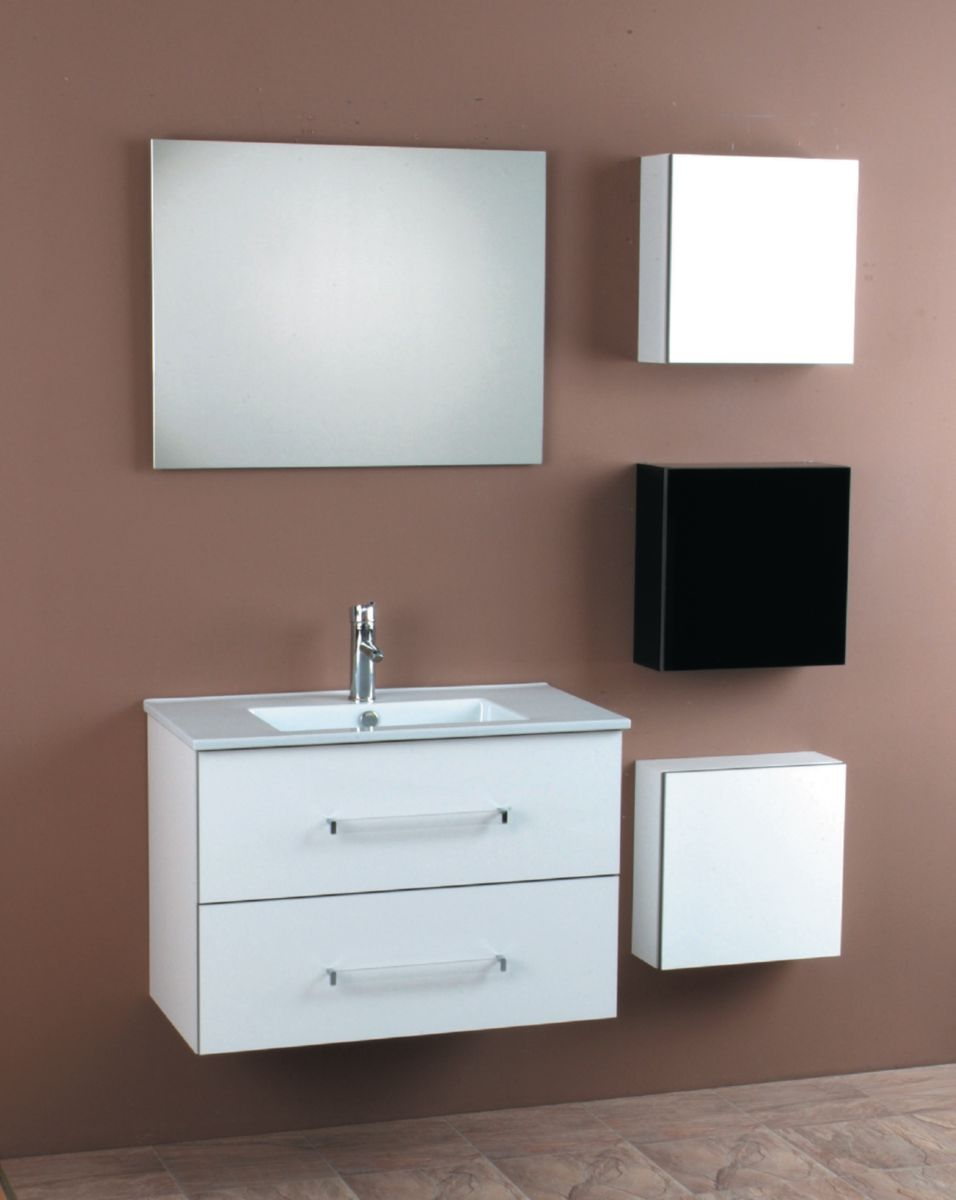Alterna meuble pep 39 s 80 cm 2 tiroirs blanc cedeo - Meuble salle de bain cedeo ...