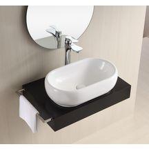 vasque poser design ronde d38 5 cm avec plage de