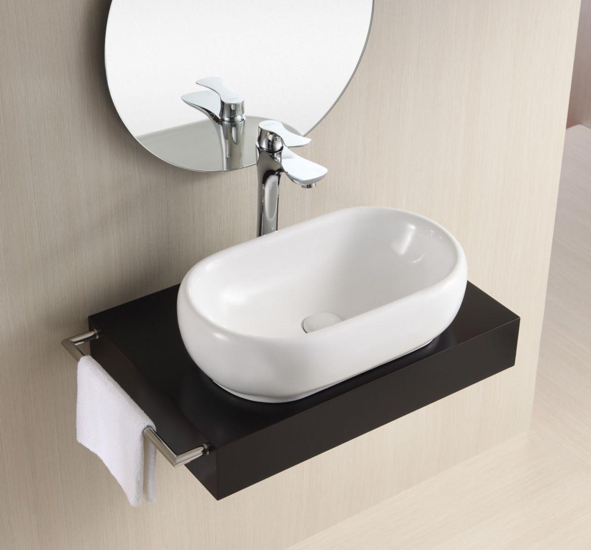Exceptionnel Vasque Ovale A Poser #15: Vasque à Poser Plenitude Ovale 50x30,5 Cm - ALTERNA - Sanitaire -CEDEO