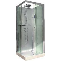 Cabine de douche carrée accès d'angle DOMINO