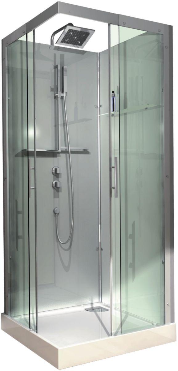 affordable cabine de douche domino complte carre x cm version confort alterna sanitaire. Black Bedroom Furniture Sets. Home Design Ideas