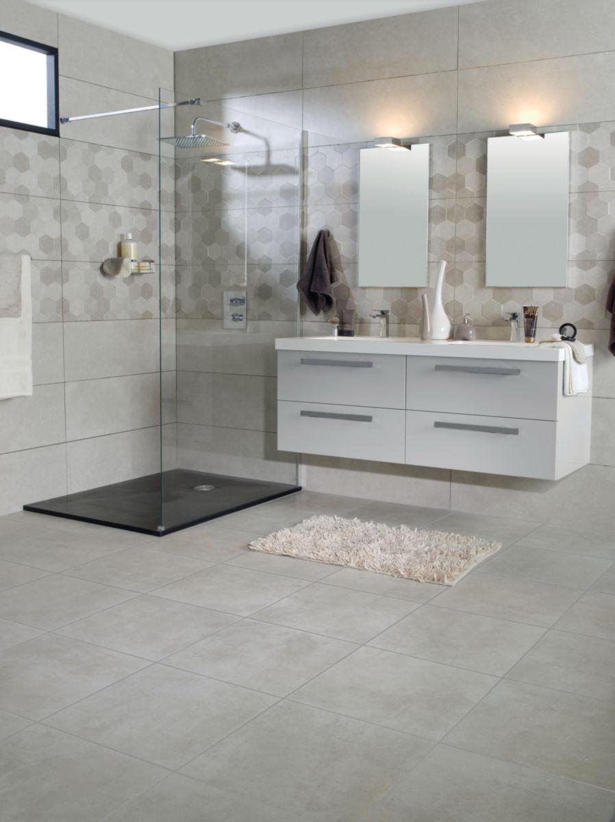 Fa ence arte design george gris mat 32 55x90 5cm envie - Carrelage salle de bains design ...