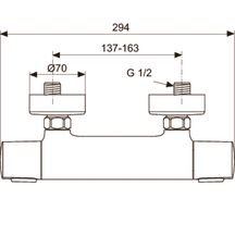 Mitigeur de douche thermostatique mural c3 chrom - Mitigeur thermostatique douche ideal standard ...