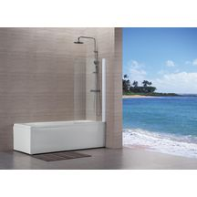 pare baignoire vers eau 80 x 140 cm profil blanc. Black Bedroom Furniture Sets. Home Design Ideas