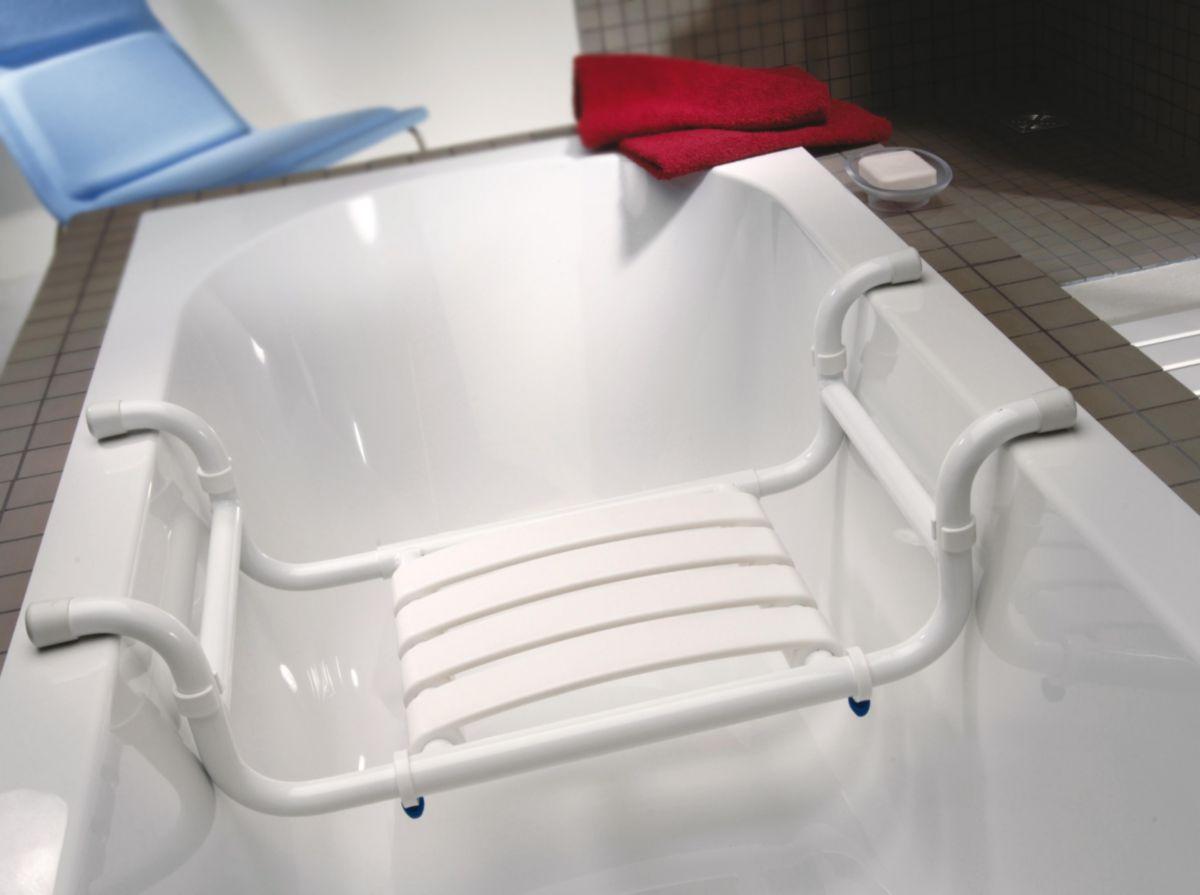 Pellet Siège De Baignoire Transformable En Tabouret Aluminium