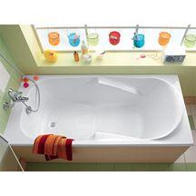 baignoire prima 2 160x70 cm blanc acrylique 000 r f 60600000 allia sanitaire cedeo. Black Bedroom Furniture Sets. Home Design Ideas