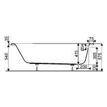 baignoire rectangulaire bastia 170x70 cm acrylique blanc r r f 91600000 allia. Black Bedroom Furniture Sets. Home Design Ideas