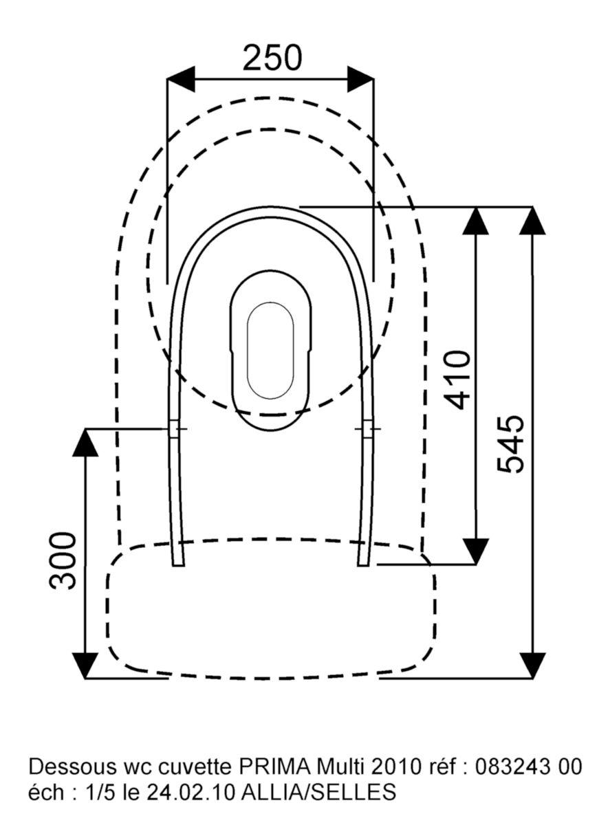 Pack wc PRIMA multi mécanisme général abattant frein de chute, à modifier en AFC (pour toutes les marques) blanc Réf. 08324300000101