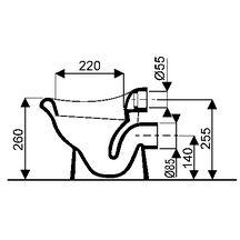 cuvette bebe ludik blanche 38x28cm hauteur 25cm sortie horizontale 5 litres r f 314000000. Black Bedroom Furniture Sets. Home Design Ideas
