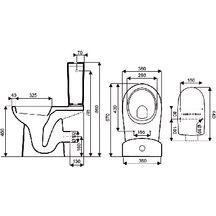 pack wc concerto 2 cuvette sur lev e h 46 cm sortie horizontale r servoir quip d 39 un. Black Bedroom Furniture Sets. Home Design Ideas