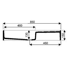 evier d 39 appoint publica 85x50 cm avec gouttoir droite et bandeau de 15 cm blanc r f. Black Bedroom Furniture Sets. Home Design Ideas