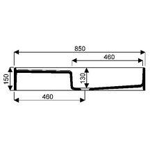 evier d 39 appoint publica 85x50 cm 1 cuve 1 gouttoir gauche avec bandeau de 15 cm blanc r f. Black Bedroom Furniture Sets. Home Design Ideas