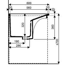 bac laver publica l60 cm c ramique blanc r f 731500000. Black Bedroom Furniture Sets. Home Design Ideas
