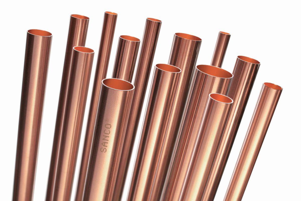 Tube cuivre Talos écroui diamètre : 16X1mm demi dur barre de 2m réf TUSEECR020016