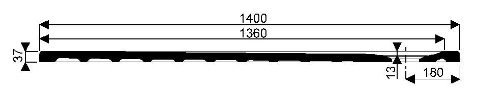 Receveur extra plat à poser 140 x 80 EMBRUNS taupe Réf. 00738300054AG3