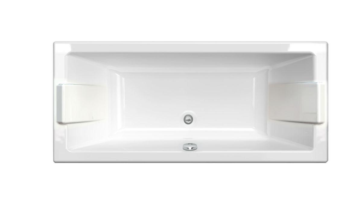 Salle De Bain Parement Baignoire ~ baignoire droite prefixe 170x75cm blanc r f 199091 aquarine
