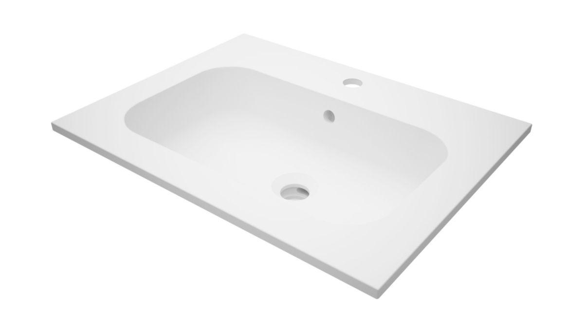 Plan De Toilette Seducta2 60 Cm En Synthèse Vasque Centrée Alterna