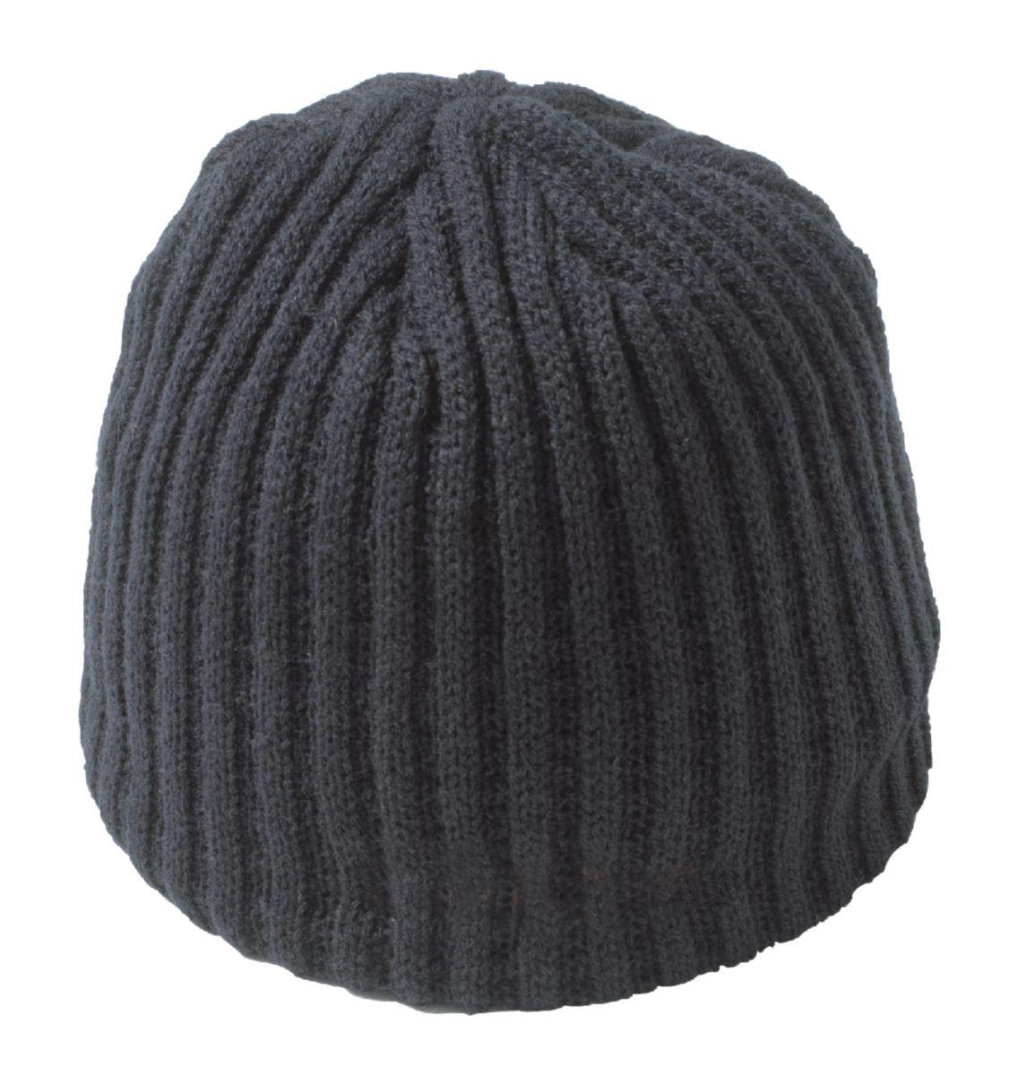 Bonnet acrylique avec broderie 68 gr/m² noir