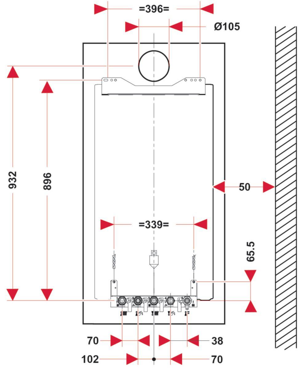 saunier duval chaudi res gaz isotwin condens f25 au. Black Bedroom Furniture Sets. Home Design Ideas