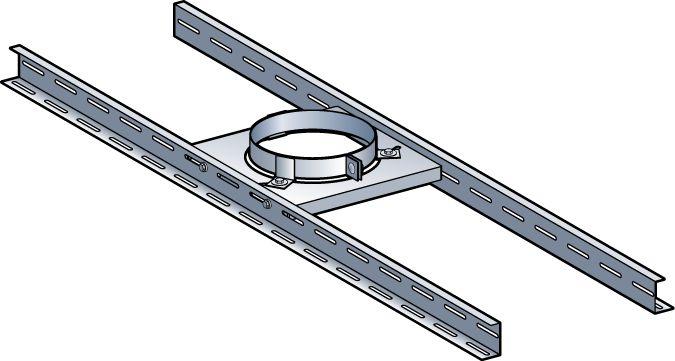 Support plancher THERMINOX TI diamètre 130 mm SP130TZ / réf. 20130081