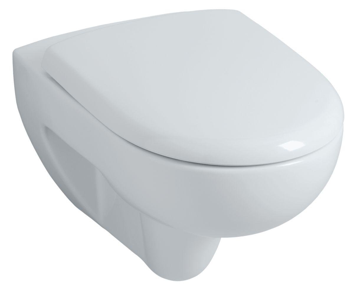 Pack WC PRIMA RIMFREE suspendu avec abattant frein de chute Réf. 08398300000100