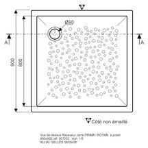 Receveur bastia c ramique 90 x 90 extra plat poser pour bonde sipho de de 90 r f - Quelle bonde pour receveur extra plat ...