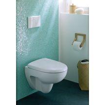 pack wc suspendu court avec abattant prima blanc r f 08390300000200 allia sanitaire brossette. Black Bedroom Furniture Sets. Home Design Ideas