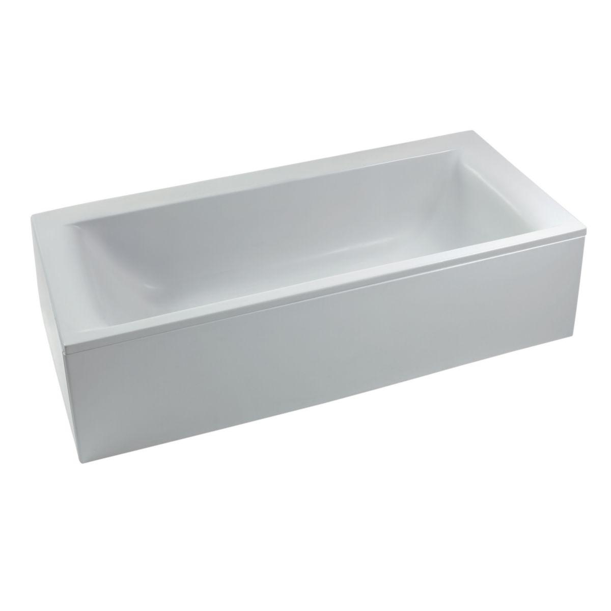 Baignoire rectangulaire connect en acrylique 170x75 cm for Envie de salle de bain