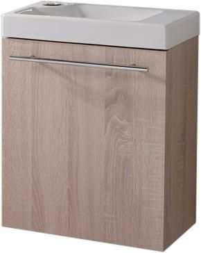 Alterna Ensemble Piccolo 2 Lave Mains En Ceramique Meuble Bois
