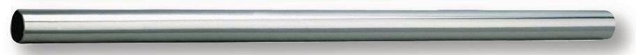 Tube inox poli brillant D 20, longueur 1000 mm, épaisseur 1 mm, pour porte-rideau par assemblage réf. 2400