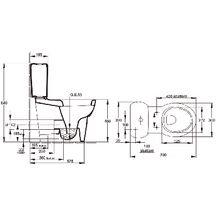 Cuvette wc sur lev e ove blanche sortie vario r f 19967w 00 jacob delafon - Wc sortie verticale avant ...