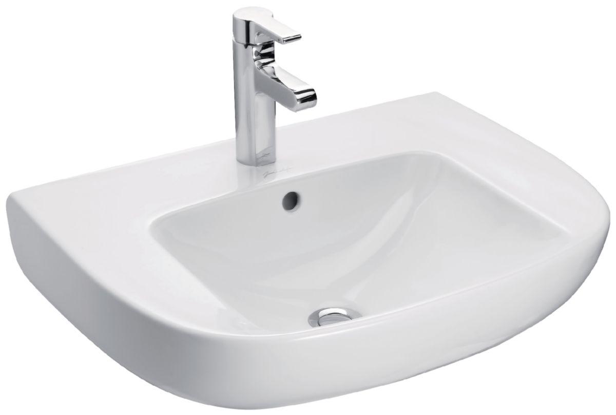 jacob delafon lavabo Lavabo ODEON UP 60 x 49 cm, percé 1 trou, avec cache trop- ...