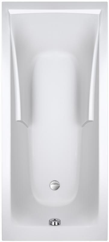 E60900 00 Baignoire CORVETTE 3 180x80cm Blanche Avec Pieds Réglables Réf.
