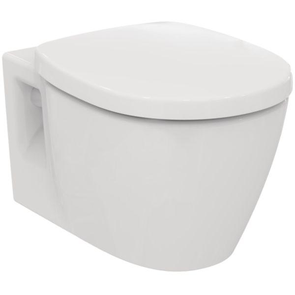WC suspendu CONNECT sans bride, abattant frein de chute