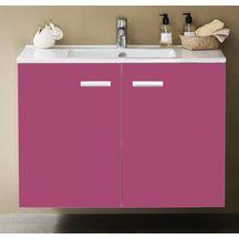 Meuble woodstock 2 portes fuschia 120 cm r f 112070553 alterna sanitaire cedeo - Woodstock meubles ...